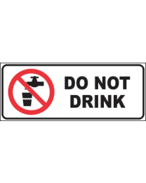 Do Not Drink Sign