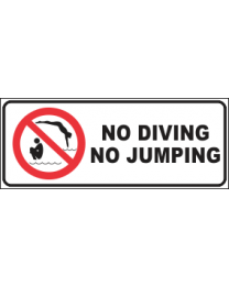 No Diving No Jumping Sign