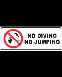 No Diving No Jumping Sign