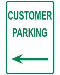 Customer Parking Arrow (L) Sign