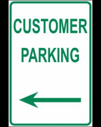 Customer Parking Arrow (L) Sign