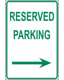 Reserved  Parking Arrow (R) Sign