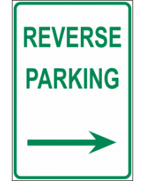 Reverse Parking Arrow (R) Sign
