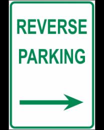 Reverse Parking Arrow (R) Sign