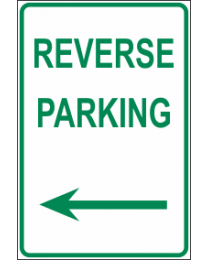 Reverse Parking Arrow (L) Sign