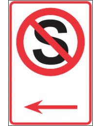 No Stopping Arrow(R) Sign