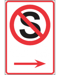 No Stopping Arrow(L) Sign