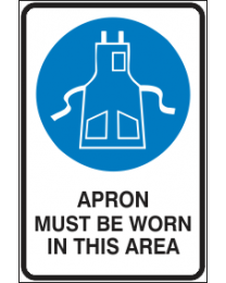 Apron Must be Worn in This Area Sign