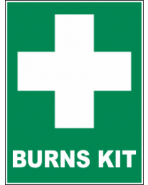 Burns Kit Sign