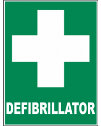 Defiberillator Sign