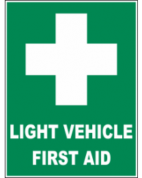 Light Vehicle First Aid Sign