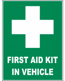 First Aid Kit In Vehicle Sign