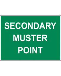 Secondary Muster Point Sign