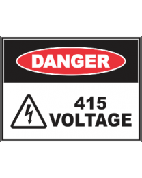 415 Voltage Sign