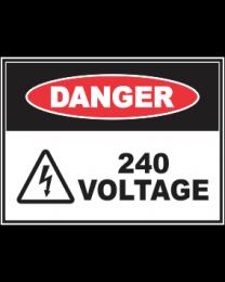 240 Voltage Sign