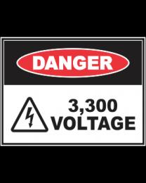 3,300 Voltage Sign