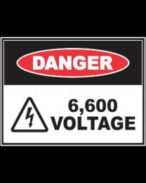 6,600 Voltage Sign
