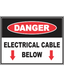 Electrical Cable Below Sign