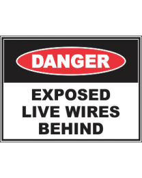 Exposed Live Wires Behind Sign