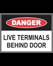 Live Terminals Behind Doors Sign