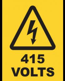 415 Volts Sign