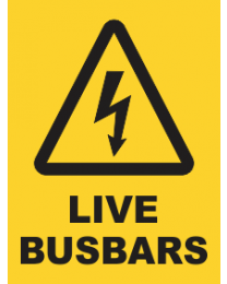 Live Busbars Sign
