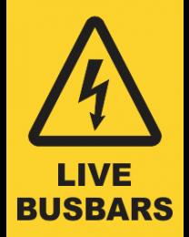 Live Busbars Sign