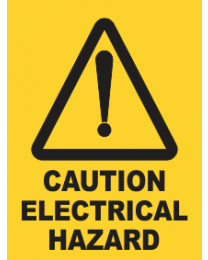 Caution Electrical Hazard Sign