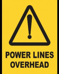 Powerlines Overhead Sign
