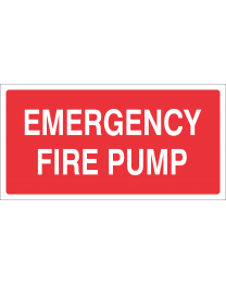 Emergency Fire Pump Sign
