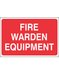 Fire Warden Equipment Sign