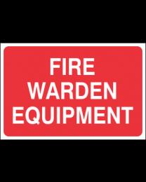 Fire Warden Equipment Sign