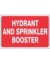 Hydrant & Sprinkler Booster Sign