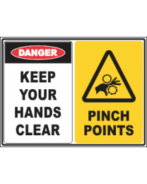 Keep Your Hands Clear-Pinch Points Sign