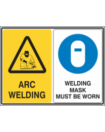 Arc Welding-Welding Mask Must be Worn Sign