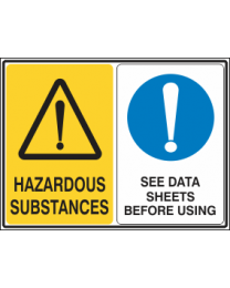 Hazardous Substances-See Data Sheets Before using Sign