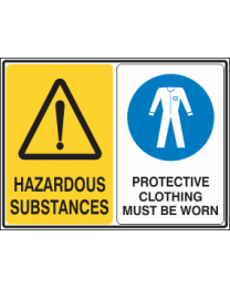 Hazardous Substances-Protective Clothing Must be Worn Sign