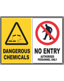 Dangerous Chemicals-No Entry Sign