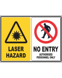 Laser Hazard-No Entry Sign