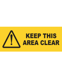 Keep This Area Clear Sign