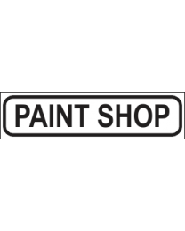 Paint Shop Sign