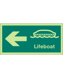 Lifeboat (Left Arrow ) Sign