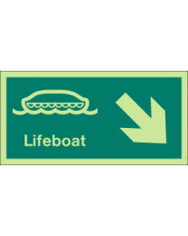 Lifeboat (Arrow ) Sign
