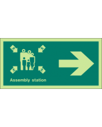 Assembly station (Right Arrow)Sign