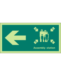 Assembly station (Left Arrow)Sign