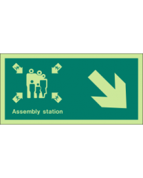 Assembly station (Arrow)Sign