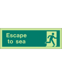 Escape To sea Sign