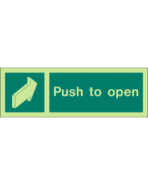 Pull To Open Sign