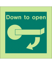 Down To Open (Right Side) Sign