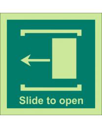 Slide To Open (Left Side) Sign